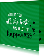 Wishing you all te best - vriendschapskaart
