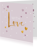 With love - touch of gold - zomaar kaart
