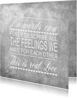 Woorden Krijt zwart Liefde - BK