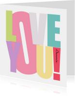 Woorden Love you! - BK
