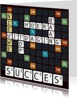 Woordspel kaart voor een nieuwe baan