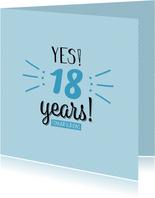 Yes... years! Leeftijd is aanpasbaar -felicitatiekaart