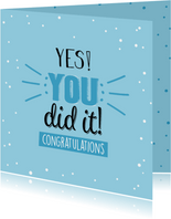 Yes you did it! Congratulations
