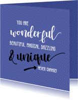 You are wonderful - vriendschapskaart