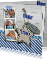 YVON geboorte hout foto