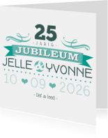 YVON jubileum 25 tekst retro