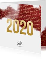 Zakelijke 2020 goud kerstkaart internationaal waterverf
