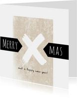 Zakelijke, eenvoudige kerstkaart 2020 merry xmas