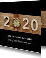 Zakelijke kerst horloge aftellen 2020 - 2021
