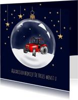 Zakelijke kerst - Kerstbal met tractor