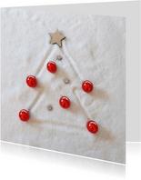 Zakelijke kerst sneeuwboom