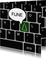 Zakelijke kerst toetsenbord