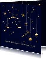 Zakelijke kerst - weegschaal en hamer advocatuur