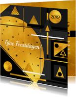 Zakelijke kerstkaarten - Zakelijke kerstkaart 2019 goud geometrie