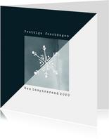 Zakelijke kerstkaart 2020 modern met waterverf en ijskristal