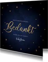 Zakelijke kerstkaart bedankt medewerkers gouden sterren