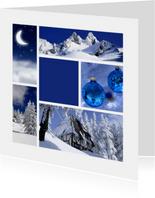 Zakelijke kerstkaart Donkerblauw