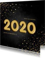 Zakelijke kerstkaart folieballon 2020 met sterren
