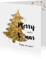 Zakelijke Kerstkaart - glitter boom
