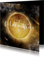 Zakelijke kerstkaart Golden Year