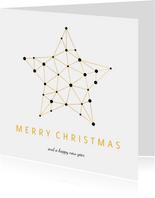 Zakelijke kerstkaart gouden ster verbinding