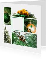 Zakelijke kerstkaart groene collage
