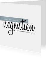 Zakelijke kerstkaart, leuke typografie op witte achtergrond