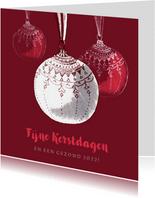 Zakelijke kerstkaart met kerstballen