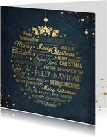 Zakelijke kerstkaart met kerstgroet in meerdere talen