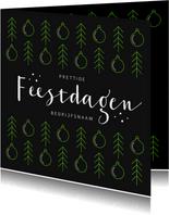 Zakelijke kerstkaart modern grafisch kerstballen foto logo