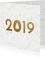 Zakelijke kerstkaart sneeuw 2019