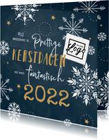 Zakelijke kerstkaart sneeuwvlokjes hip 2022