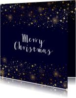 Zakelijke kerstkaart sterren goud glitterlook