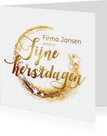 zakelijke kerstkaart sterren goud logo