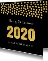 Zakelijke kerstkaart vierkant confetti goud
