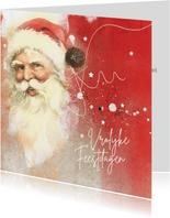 Zakelijke kerstkaart vintage kerstman