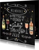 Zakelijke kerstkaart wijn