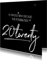 Zakelijke nieuwjaarskaart a whole new decade 20twenty