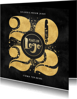 Zakelijke nieuwjaarskaart gouden 2022, spetters en logo
