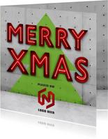 Zakelijke vierkante kerstkaart met ruimte voor logo