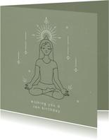 Zen verjaardagskaart