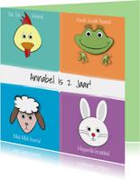 Zoe-t dierenkaart met naam en leeftijd 2