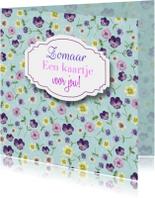 Zomaar bloemen label tekst
