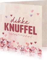 Zomaar - dikke knuffel roze hartjes