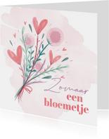 Zomaar een bloemetje waterverf bloemen en hartjes