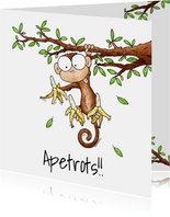 Zomaar kaart aapje - Apetrots!