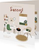 Zomaar kaart bedrijf werknemers succes thuiswerk topper