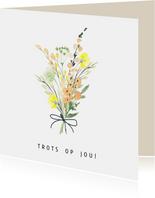 Zomaar kaart boeket - trots op jou