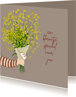 Zomaar kaart een bloemetje illustratie
