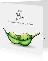 Zomaar kaart I've bean thinking about you